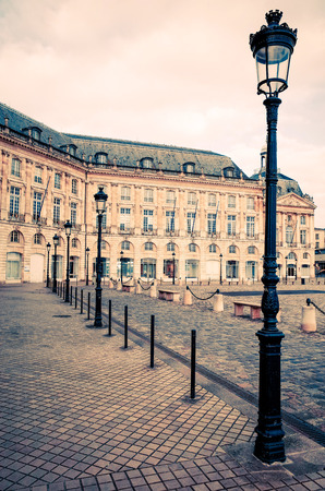 building monumental: Street view of old town in bordeaux city, France Europe