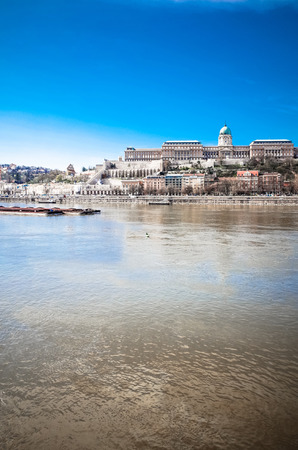 Beautiful view of historic Royal Palace in Budapest, Hungary photo