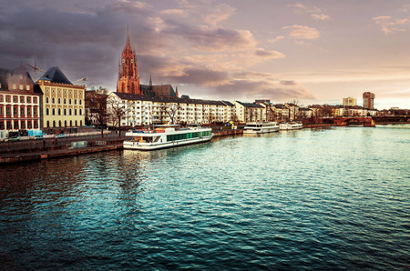 River view of Frankfurt am Main,Germany photo