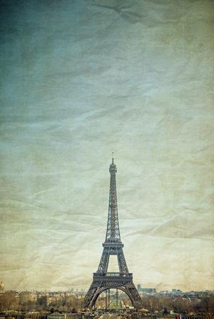 parisian scene: Vintage Eiffel Tower