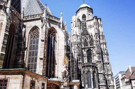 VIENNA, AUSTRIA-July 4: St. Stephens Cathedral is the most important religious building in Vienna. Vienna on July 3, 2014.Vienna, Austria