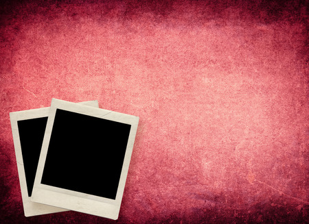 Blank photo frame with textured grunge background