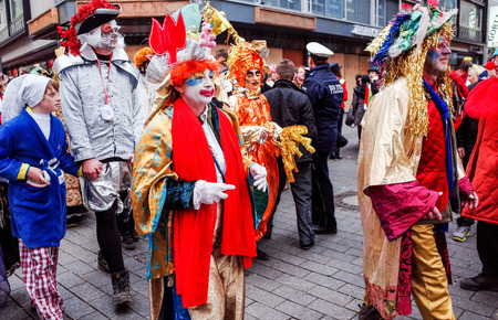 than: Cologne, North Rhine-March 3 : more than one million spectators on the streets.Carnival parade on March 3, 2014 in Cologne,Germany.
