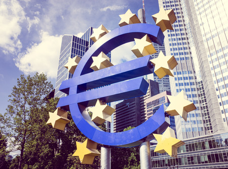 central bank: Frankfurt, Germany-May 17 : Euro Sign. European Central Bank (ECB) is the central bank for the euro and administers the monetary policy of the Eurozone. May 17 , 2014 in Frankfurt, Germany. Editorial