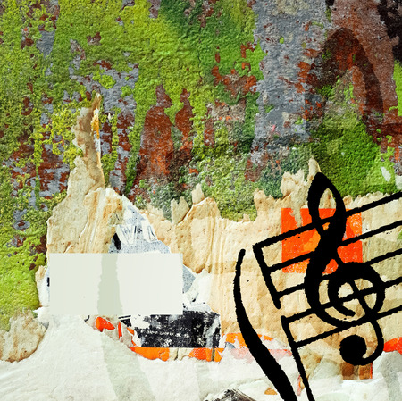melody: Abstract grunge melody textures and backgrounds with space Stock Photo