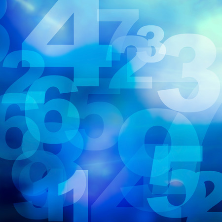 retro style numbers background in grunge style