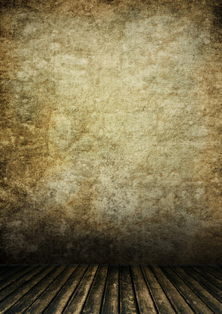 grunge room: blank grunge room interior,may use as background Stock Photo