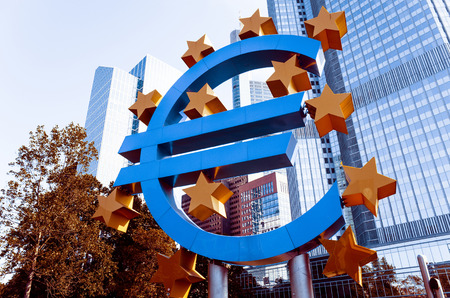 central bank: Frankfurt, Germany-May 17 : Euro Sign. European Central Bank (ECB) is the central bank for the euro and administers the monetary policy of the Eurozone. May 17, 2014 in Frankfurt, Germany Editorial