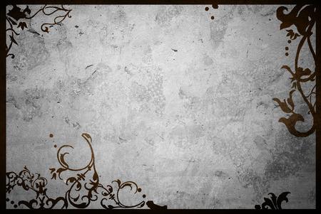空間と花のスタイルのテクスチャーと背景フレーム