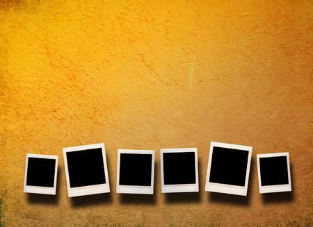blank photo: Blank photo frame Stock Photo