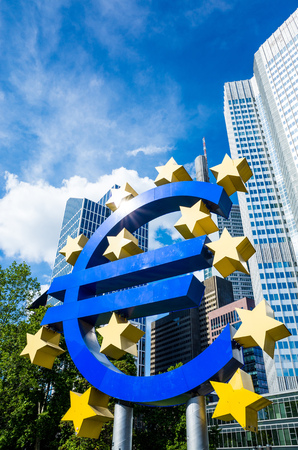monetary policy: Frankfurt, Germany-May 17 : Euro Sign. European Central Bank (ECB) is the central bank for the euro and administers the monetary policy of the Eurozone. May 17, 2015 in Frankfurt, Germany. Editorial