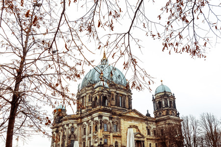 dom: Eglise Cathédrale de Berlin. Allemand Berliner Dom