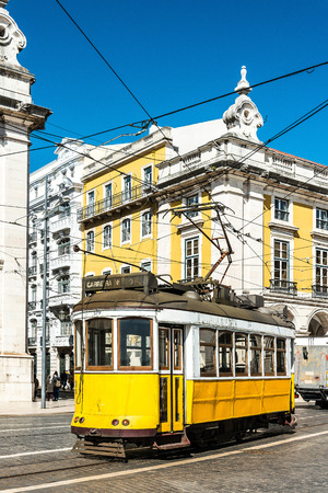 tramway: Typical,Tramway view in Lisbon, Portugal, Europe. Editorial