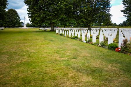 omaha: Omaha Beach,Normandy, France.- August 9: American War Cemetery on August 9, 2013. American War Cemetery at Omaha Beach, Normandy (Colleville-sur-Mer ) France.