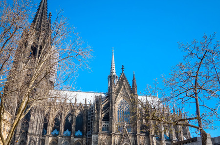 architectural tradition: view of Gothic Cathedral in Cologne, Germany Stock Photo