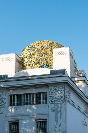 secession: VIENNA, AUSTRIA- April 19 : Vienna Secession Building was formed in 1897 by a group of Austrian artists. Vienna Secession on April 19, 2016.Vienna, Austria Editorial