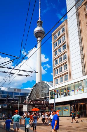 tv tower: BERLIN, GERMANY- July 30: Tv tower or Fersehturm in Berlin on July 30, 2014. BERLIN, Germany.