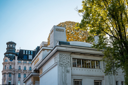 secession: VIENNA, AUSTRIA-April 20 : Vienna Secession Building was formed in 1897 by a group of Austrian artists. Vienna Secession on April 20, 2016.Vienna, Austria Editorial