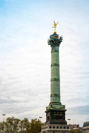 bastille: Place de la Bastille in Paris, France