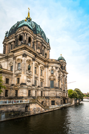 architectural tradition: view of Gothic Cathedral in Berlin, Germany Stock Photo