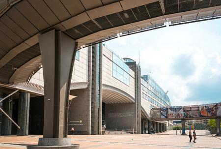 legislative: BRUSSELS, BELGIUM - June 16, 2016 : Exterior of the building of the European Parliament in Brussels, Belgium. it exercises the legislative function of the EU.June 16, 2016, BRUSSELS, BELGIUM Editorial