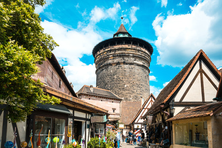 Old Town of Nuremberg, Bavaria, GERMANY Stock Photo