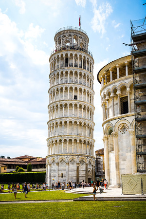 miracle square: Leaning Tower of Pisa in Tuscany,Italy.