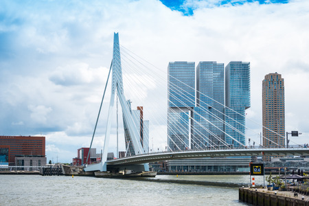 ROTTERDAM, Netherlands - August 10 : Street view of Port of Rotterdam, the nickname Gateway to Europe, and, conversely; Gateway to the World in Europe.