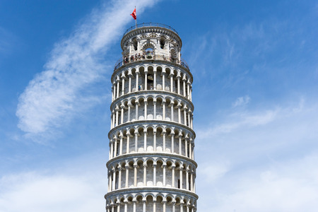 Leaning Tower of Pisa in Tuscany,Italy. a Unesco World Heritage Site. Editorial