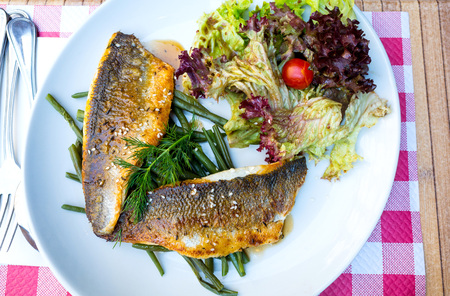 fine cuisine: Fine dining cuisine - french dish on the table