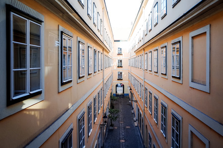 viennese: Viennese Classical style building, Austria, Europe Editorial