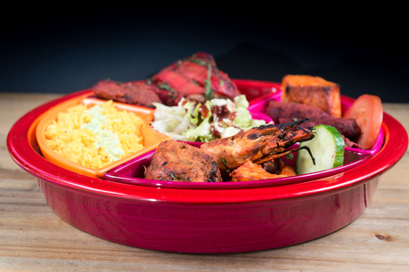 food specialities Mixed Grill Indian Flavor Stock Photo