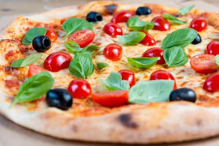 margarita pizza: tasty margarita pizza on a the table