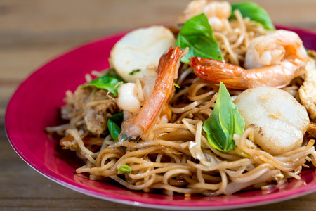 fried noodle: fried noodle asian food on the table
