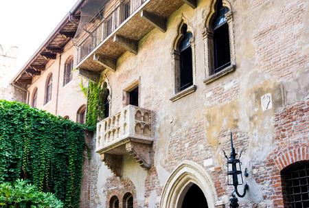 romeo and juliet: Romeo and Juliet balcony in Verona, Italy Editorial