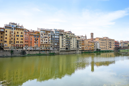 street view of Old Town Florence Tuscany, Italy Stock Photo