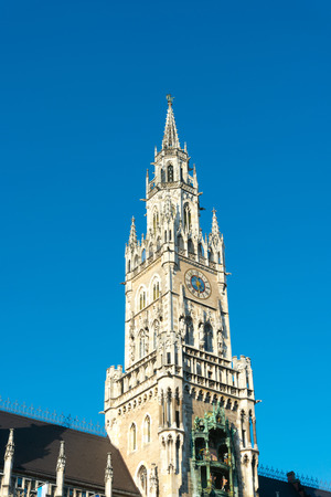 the old town hall: Traditional street view of marienplatz in Munich, Germany