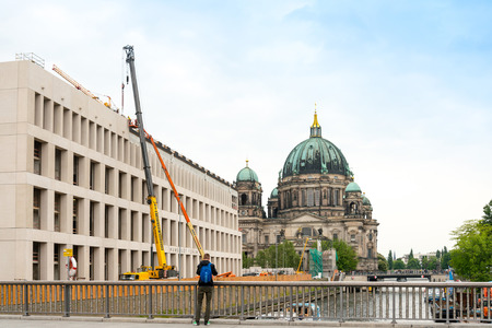 Berlin, Mitte - May 18, 2016 : Berlin Cathedral Church. German Berliner Dom. A famous landmark. May 18, 2016 in Berlin, Germany. Editorial