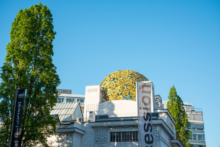 VIENNA, AUSTRIA-April 20, 2016 : Vienna Secession Building was formed in 1897 by a group of Austrian artists. Vienna Secession on April 20, 2016.Vienna, Austria Editorial