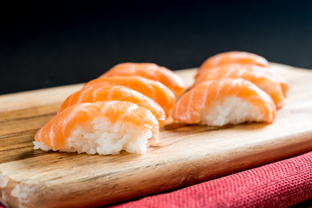 fresh sushi traditional japanese food on the table Stock Photo