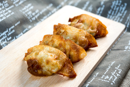 Chinese food Fried dumplings on plate