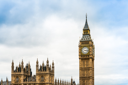 Traditional view of Big Ben in London, United Kingdom