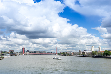 Street view of Port of Rotterdam, the nickname Gateway to Europe, and, conversely; Gateway to the World in Europe. Stockfoto