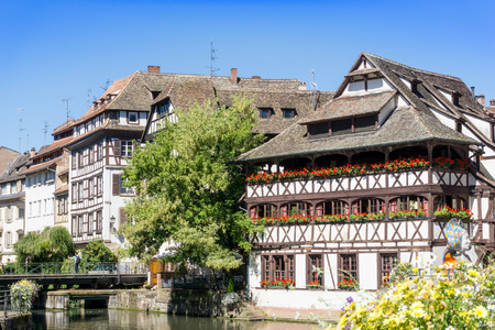 central european: Traditional houses in La Petite France, Strasbourg, Alsace, France