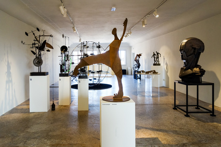VENICE, ITALY - May 18, 2017: Venice Biennale. The 57th International Art Exhibition, titled VIVA ARTE VIVA in the historic city centre of Venice