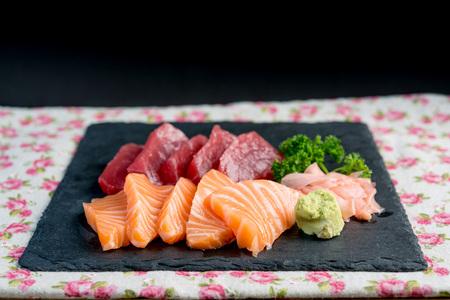 和食新鮮な刺身刺身を混合 写真素材