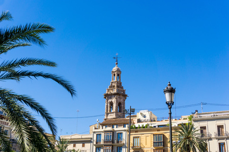 street view of downtown valencia, is Spains third largest metropolitan area, with a population ranging from 1.7 to 2.5 million. Stock Photo