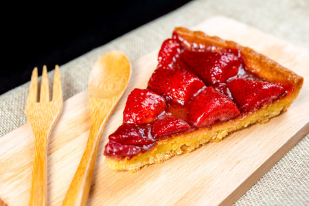 one slice of pie dessert ready to eat Stock Photo