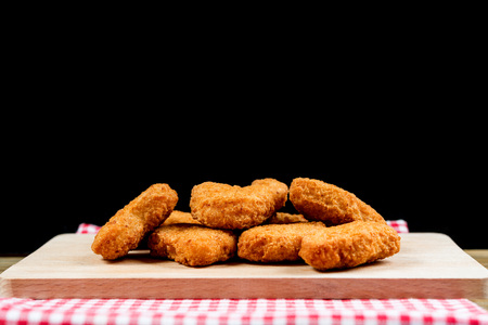 fried Chicken nuggets on table Stock Photo