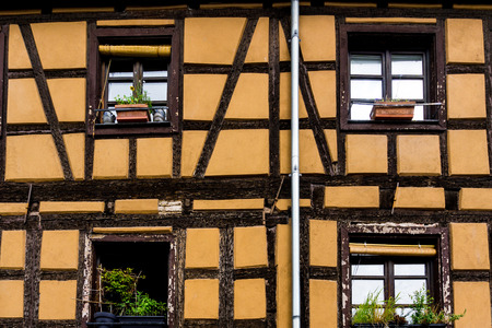 half timbered house: Traditional houses in La Petite France, Strasbourg, Alsace, France